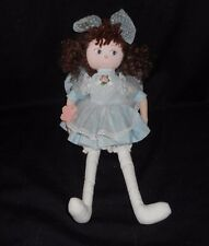 "13"" VINTAGE APPLAUSE MELISSA GIRL DOLL BABY BLUE DRESS STUFFED ANIMAL PLUSH TOY"