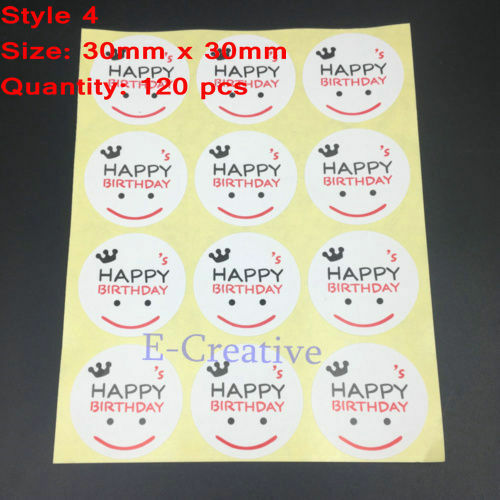 Paper Labels Hand made thank you love heart Gift Food Kraft Craft Stickers