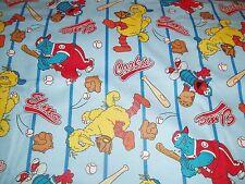 Elmo Cookie Monster Sesame Street baby toddler sheet set Baseball stripe flannel