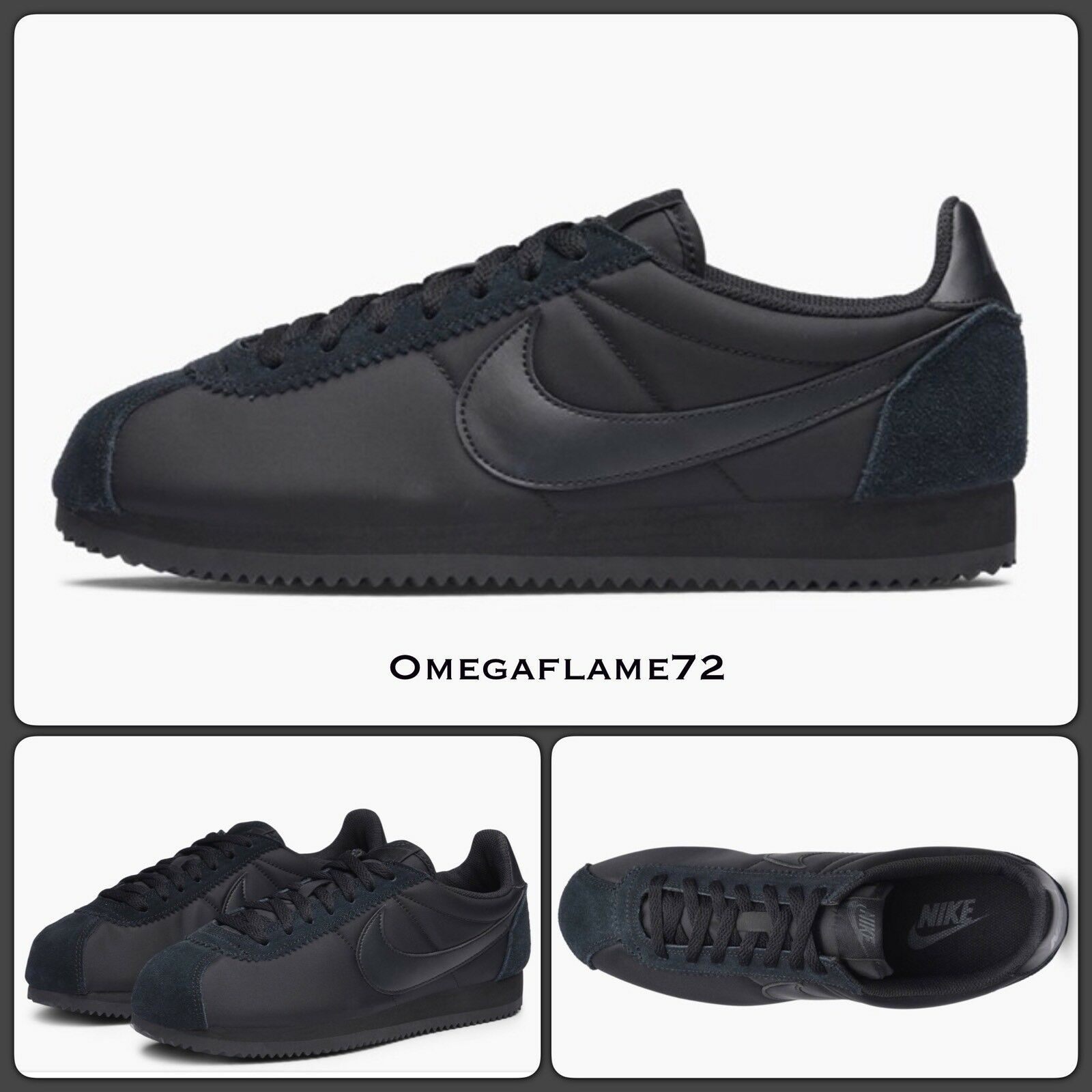 Nike cortez nylon og, triple nero, 749864-003
