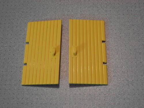 Lego 2 Yellow Doors GMT201 1x4x6 Studs