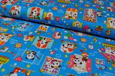 COSMO JAPAN TOKIO PANDA BÄREN Baumwollstoffe Designerstoff  0,5m x 1,10m KINDER