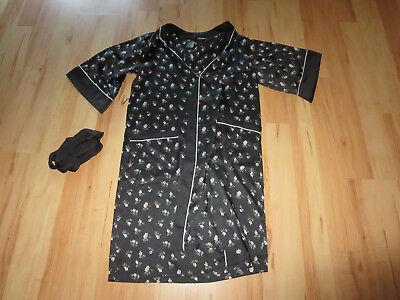Pflichtbewusst Neu H & M Sommer Kimono Morgenmantel Neglige Schwarz Geblümt Gr Xs Shoher Np Verpackung Der Nominierten Marke
