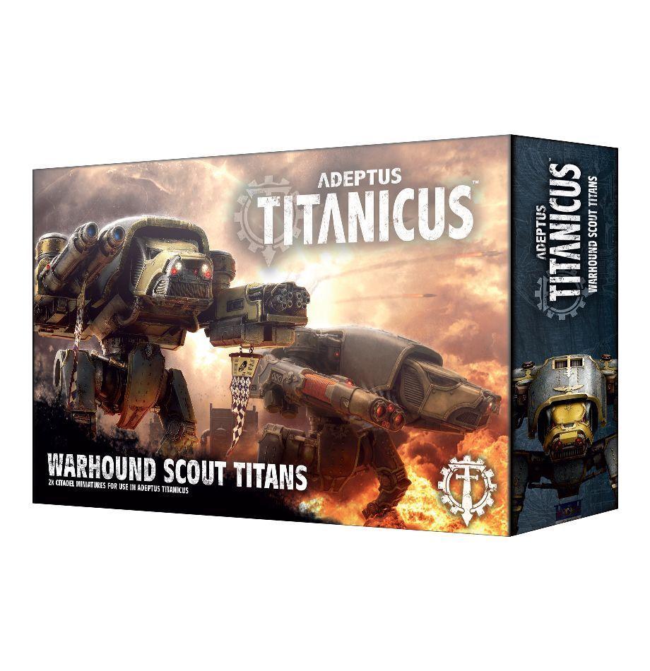 Adeptus Titanicus Warhound Scout Titans Spel arbetarhop 400 -00