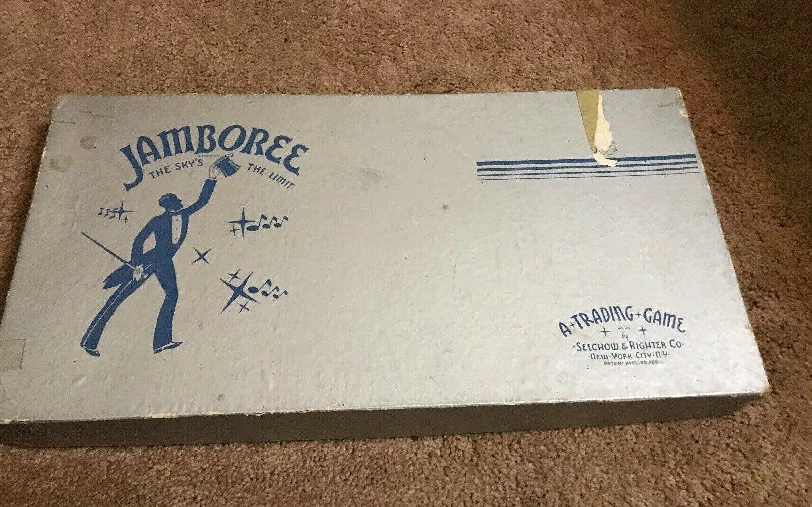1936 Jamboree Game All Parts Vintage Good Cond Selchow Righter Sky's the Limit