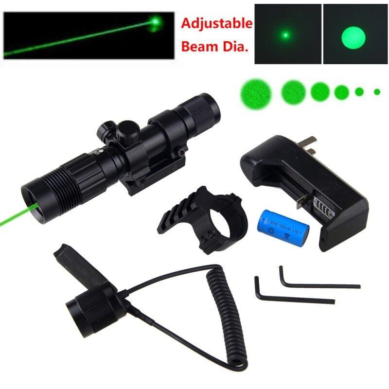 Einstellbar 500 Yards Grün Punkt Punkt Punkt Laser Sight Jagd Zielfernrohr Montage Batterie 2b42b0