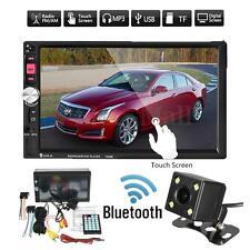 7'' HD Touch Screen 2Din Car Radio MP5 MP3 FM AUX Player Bluetooth USB w/ Camara