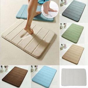 4 taille tapis de bain tapis absorbant doux m moire mousse. Black Bedroom Furniture Sets. Home Design Ideas