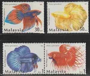 (301)MALAYSIA 2003 FIGHTING FISH SET FRESH MNH