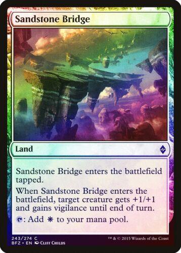 Sandstone Bridge FOIL Battle for Zendikar NM-M Land Common MAGIC CARD ABUGames