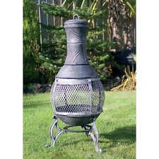 89cm GHISA costruito in acciaio barbecue Chimenea GARDEN PATIO HEATER BBQ
