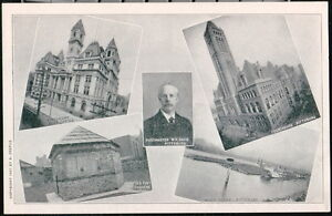 PITTSBURGH PA Postcard Post Office Postmaster Courthouse Fort Duquene Vintage