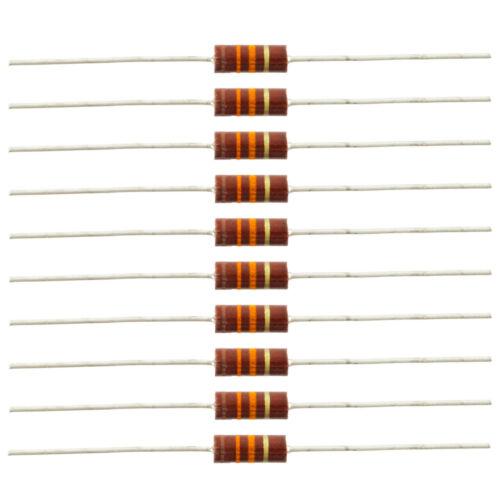 13K ohm 10 Pack 1//2 Watt Carbon Comp Resistors