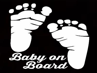 Apprensivo Baby A Bordo Bambino Auto Paraurti Finestra Finestra Segno Adesivo 2- Una Vasta Selezione Di Colori E Disegni
