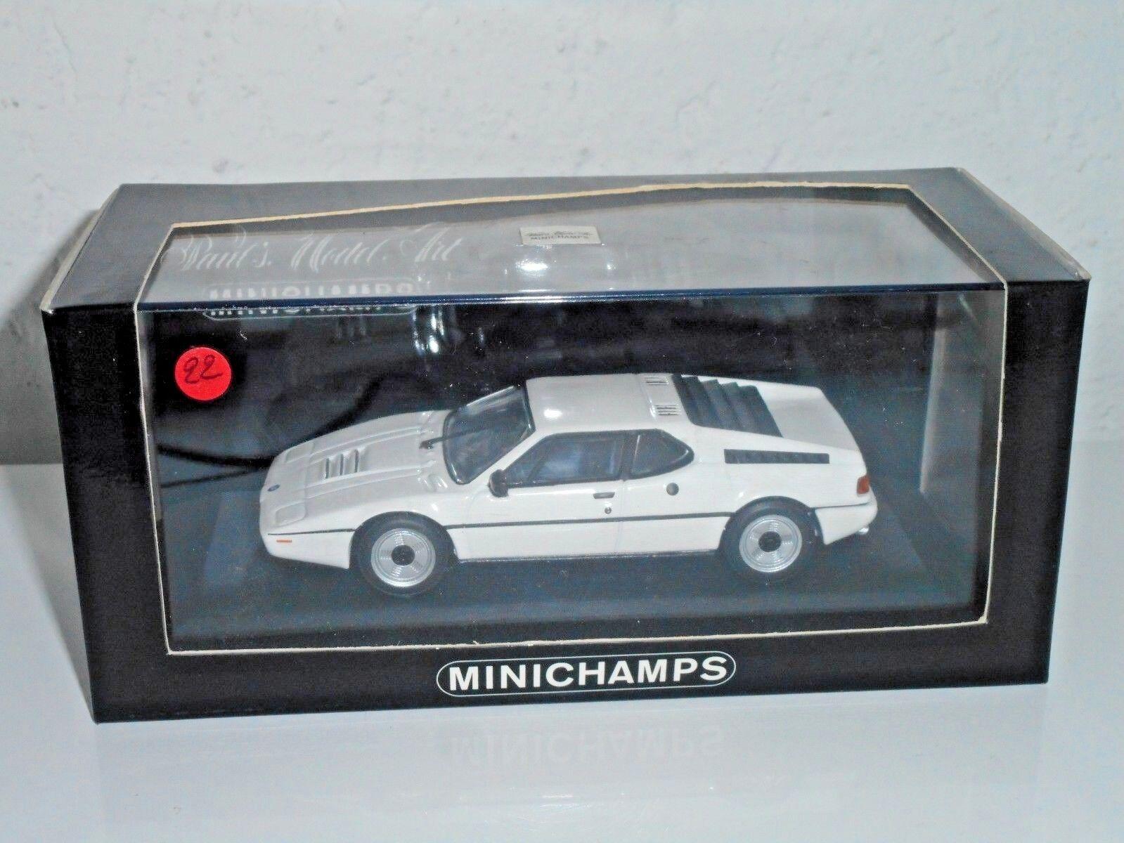 MINICHAMPS  1 43 vintage  N°22   de 100    BMW M1 STREET 1978