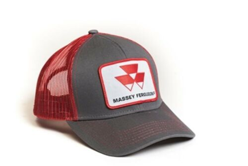 Massey Ferguson Tractor Grey Red Mesh Hat Cap Gift Fits Most