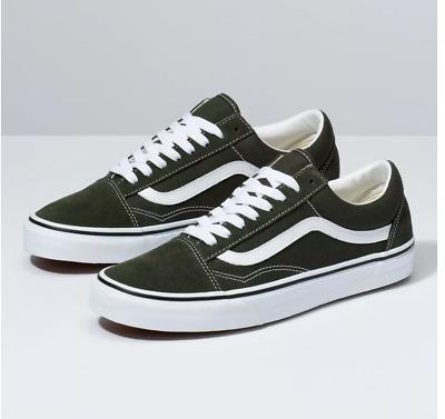 Vans Old Skool FOREST NIGHTTRUE WHITE Skateboarding Shoes Classic Fast shipping | eBay