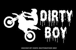 Dirty Boy Decal Dirt Bike Motorcycle Car Truck Window