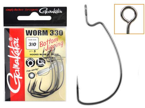 Gamakatsu Worm 330 Bottom Jigging hamecons hooks for Cheburashka weights