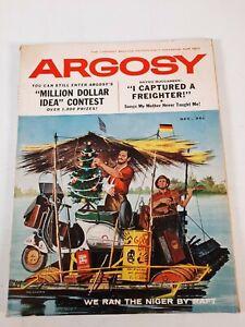 Vintage december 1959 Argosy fiction fact mens magazine binding is taped