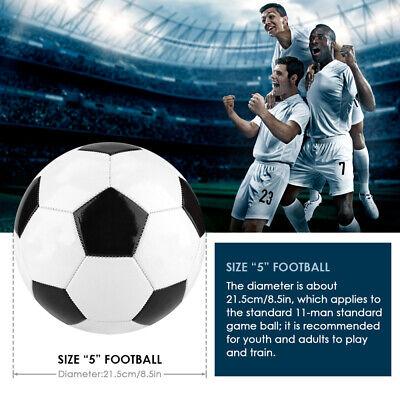 Size 5 Black White Football Soccer Balls Student Team Training Children Match❤B