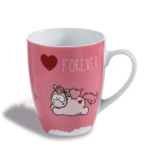 """Nici Tasse Einhorn Merry Heart /""""I LOVE YOU/"""" B-Ware Kaffeetasse Valentinstag"""