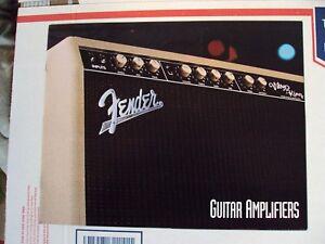 Collection Ici Vintage Fender Guitare Amplifiers Publication Des Spécifications Techniques Photos-afficher Le Titre D'origine