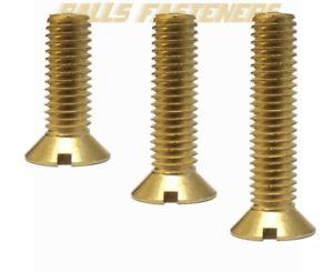 M2-M2-5-M3-M4-M5-M6-M8-M12-Brass-Slotted-Countersunk-CSK-Machine-Screws-DIN963