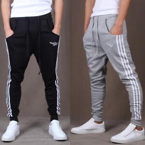 Hommes Gym Slim Fit Pantalon Pantalon Survêtement Joggers Skinny Sportswear Bas