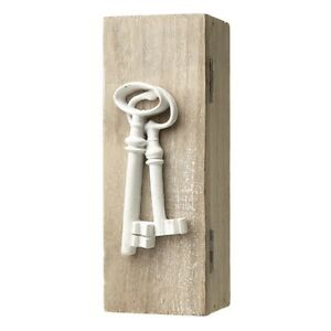 Shabby-Wooden-Chic-Key-Box-White-Key-Holder-Keys