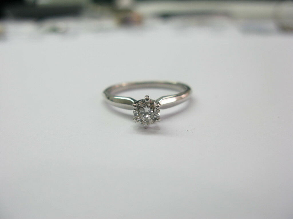 Fine Engagement Wedding Diamond Solitaire Ring .46CT