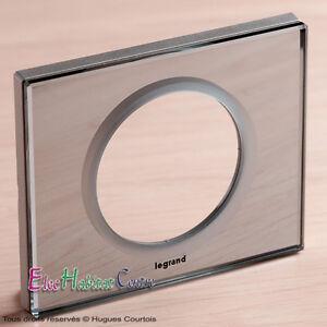 plaque simple c liane mati re verre miroir legrand 69121. Black Bedroom Furniture Sets. Home Design Ideas