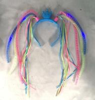 2 LIGHT UP PRINCESS NOODLE HEAD BAND crown girls fun dress up toy new party hat