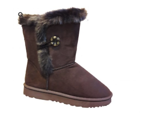 New Ladies Womens Winter Boots Fur Snow Warm Comfy Casual Fashion Shoes Size 3-8