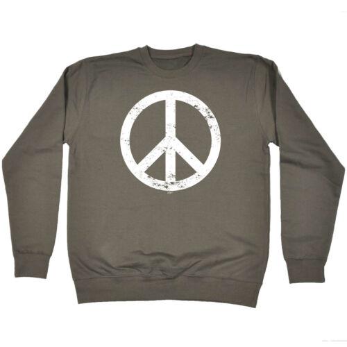Peace Sign Funny Novelty Sweatshirt Jumper Top