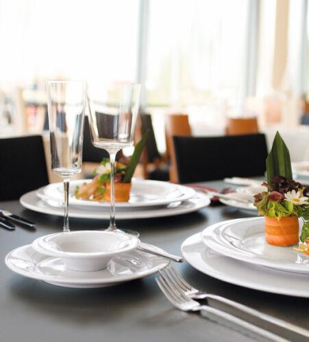 6 x Kuchenteller 23 cm Frühstücksteller rund Seltmann Weiden HOTEL Gastro SAVOY