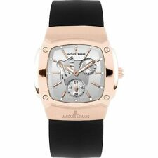 Jacques Lemans Vedette Men's Leather Rose Gold Tone Watch 1-1476 NEW