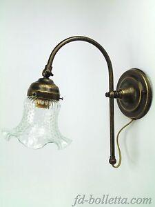 Applique ottone brunito,lampade classiche,appliques liberty parete in ottone as4  eBay