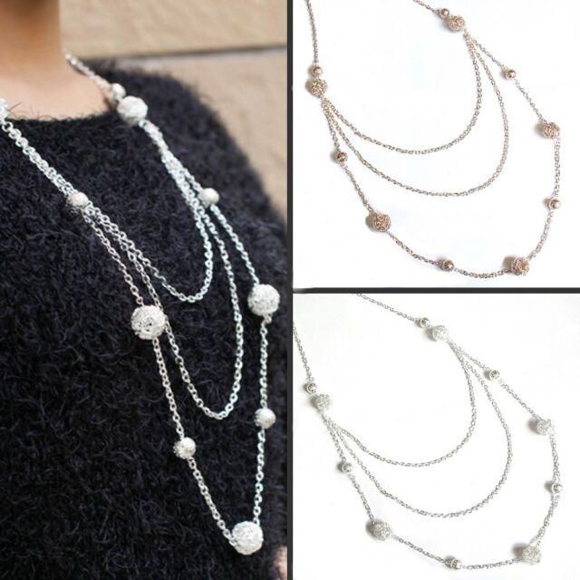XXL Lang Kette Modekette Damen Halskette Silber Gold Modeschmuck 20 6