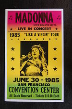 Madonna 1985 Tour poster San Francisco Convention Cente