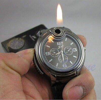 Novelty Fashion Men's Waist Watch Refillable Butane Gas Cigarette Cigar Light