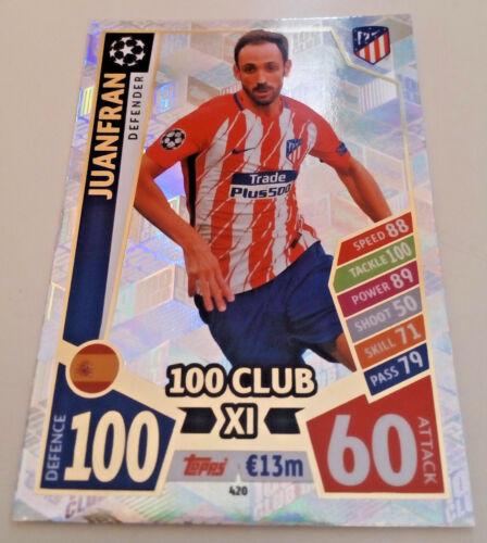 Match Attax Liga de Campeones 2017//18 ediciones limitadas 100 clubes club 11S Hh