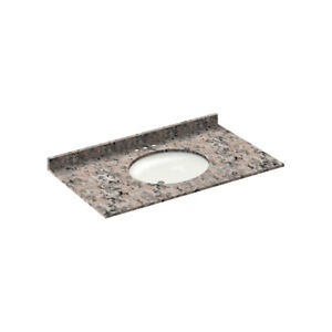 43-034-Vanity-top-with-sink-4-034-spread-Granite-Burlywood-by-LessCare-PICK-UP-ONLY