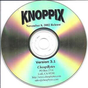 vintage software CD - Knoppix Nov 8 2002 release version 3.1