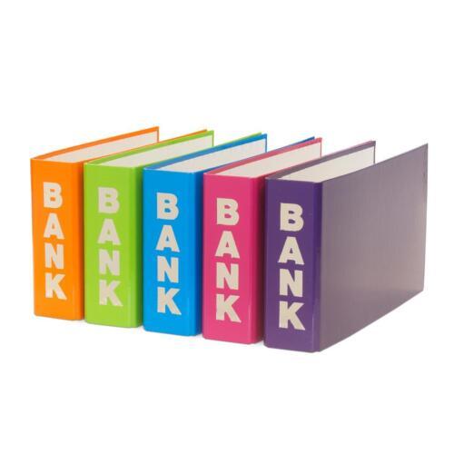 hellgrün 5 Bankordner // 140x250mm // je 1x orange hellblau pink und lila