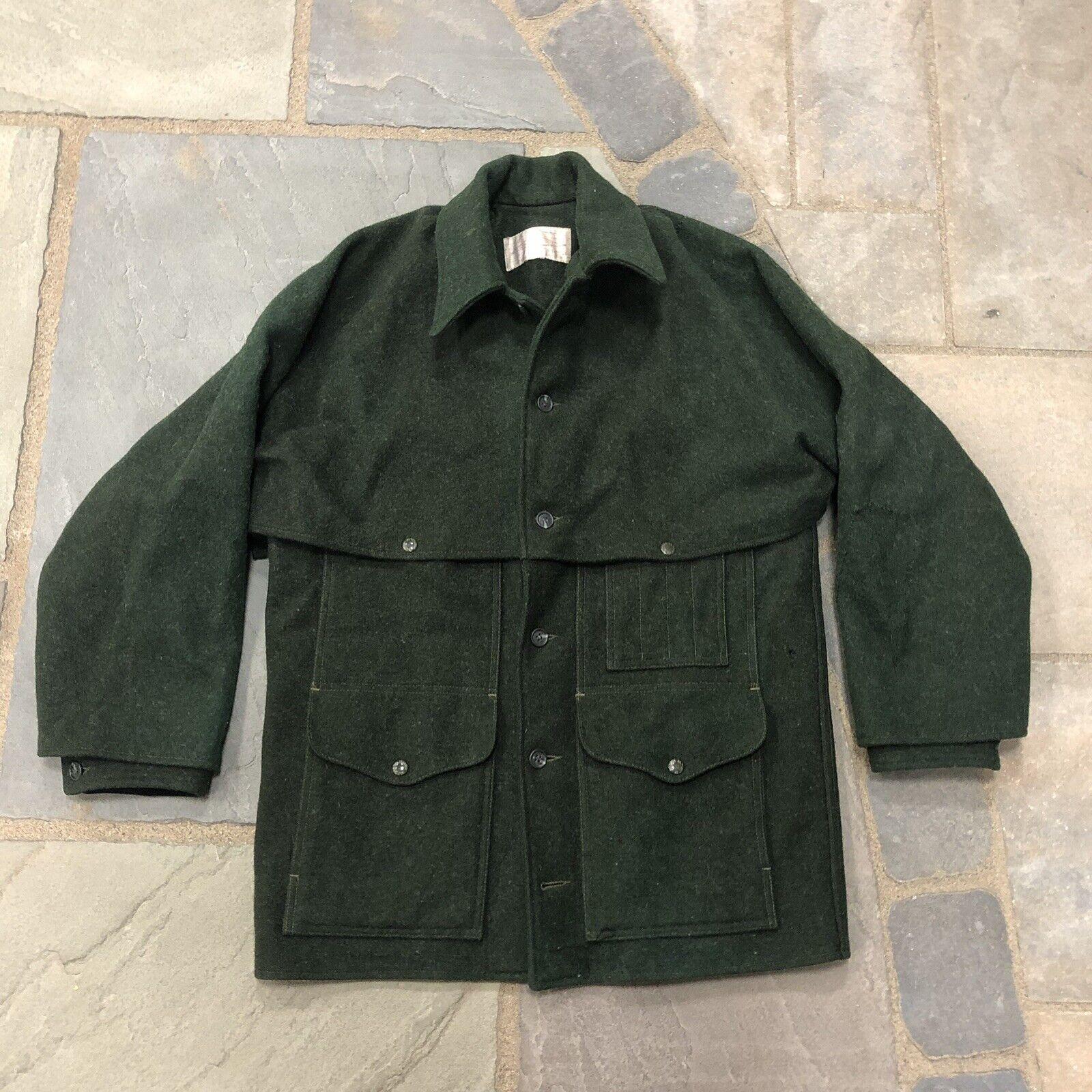 Vintage Filson Mackinaw wolleCruiser jacke Coat Forest Grün männer's Fits M L