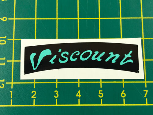 old school bmx decals stickers viscount dominator seat decal black and mint