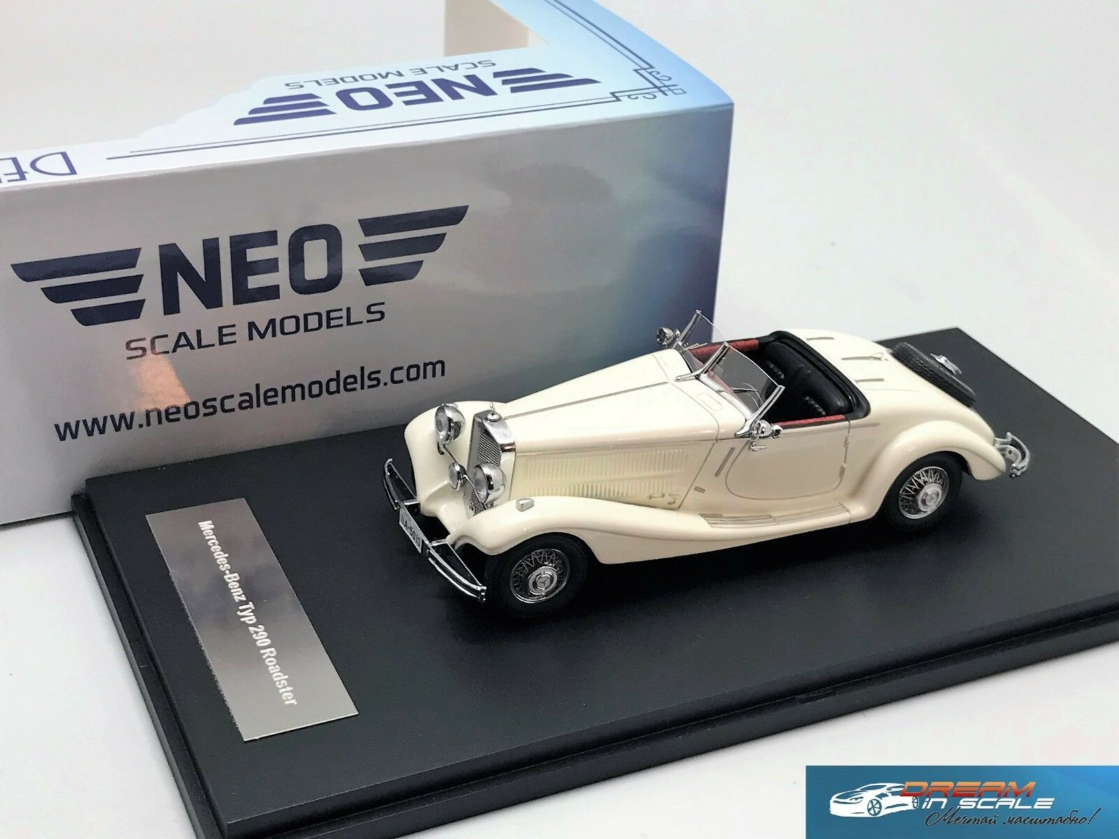 Mercedes Benz Roadster Tipo 290 (W18) 1936 biancao NEO45010 1 43