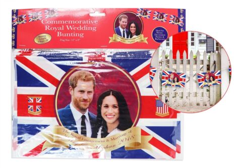 Harry Meghan Royal Wedding Decorations Bunting Union Jack Party 12ft 8 Flags