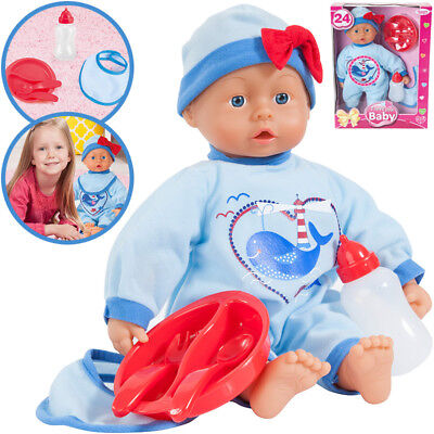 Bayer Design Babypuppe I Love You 38 cm (Blau-Rot)